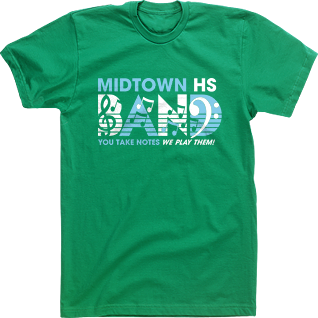 gallery for pep band shirt designs